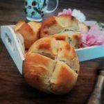 Birnenkuchen mit Schokolade und Walnüssen