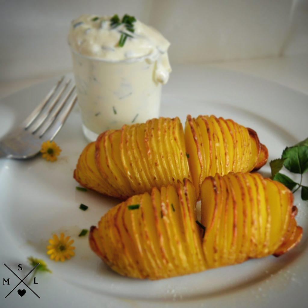 Knusprige Kartoffelfächer, besser als Pommes und sogar gesünder.